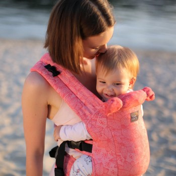 DLight Full Wrap Conversion ergonomic baby carrier - Flora