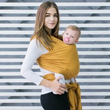 Stretchy baby wrap - Honey