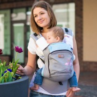 AIR ergonomic baby carrier - Pink Flamingos